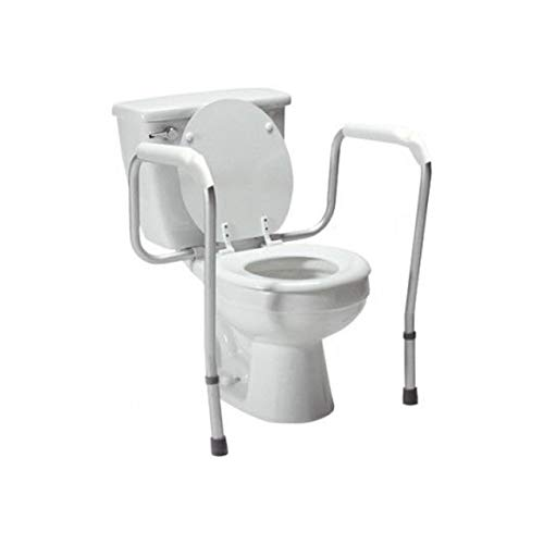 Graham-Field Lumex Versaframe Toilet Safety Rail, Adjustable-Height, 250 lb. Weight Capacity, 6465A-1, White