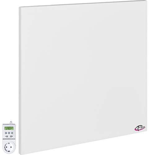 TecTake Calefacción por infrarrojos ¡incluye soporte de pared! - varios modelos - (450 Vatios con termostato TS05 | no. 401706)