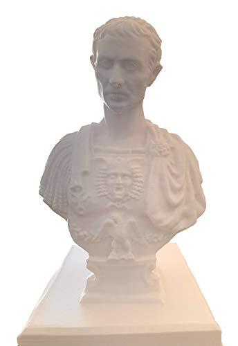 Julius Caesar Stifthalter Statue Organizer Bleistiftbox Stifthalter Stift Cup (Weiß)