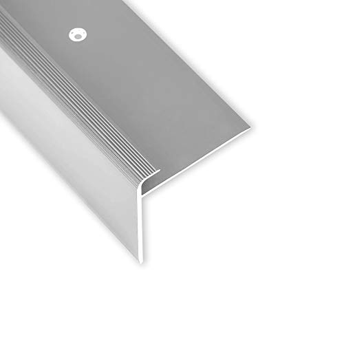 Toolerando Treppenkantenprofil - 134 cm, F-Form, Schraubmontage, silber