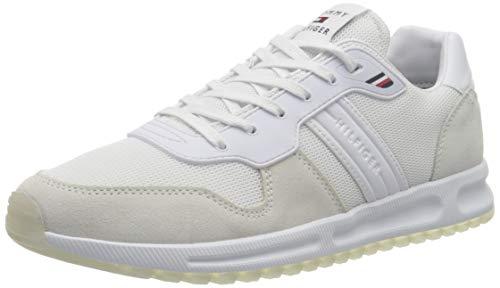 Tommy Hilfiger Herren MODERN Corporate Mix Runner Sneaker, weiß, 44 EU