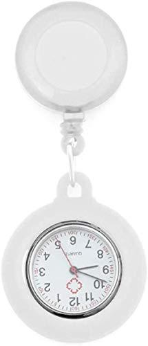 LLGG Moda Reloj De Bolsillo Enfermera Colgante,Reloj de Enfermera portátil con Hebilla,...