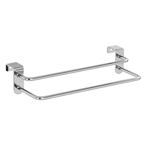InterDesign 97592EU Metalo Porte-Torchons Double sur Porte de Placard, Chrome