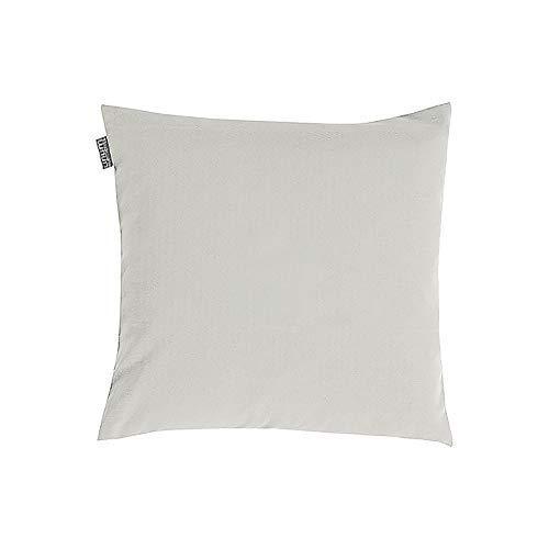 Linum Annabell Elegant Kissenhülle für Dekokissen 40cm x 40cm, 100% Baumwolle, Maschinenwaschbar, Hellgrau