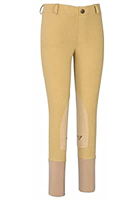 TuffRider Girl's Starter Lowrise Pull-OnBreech, Light Tan, 14 from JPC Equestrian - Sporting Goods