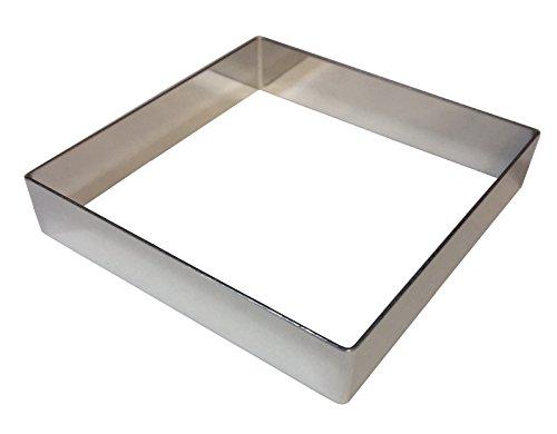 タルトリング 12cm 四角 正方形 浅型正角セルクル ケーキリング ステンレス製Tarte Anneau carre Square