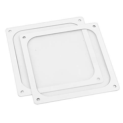 S SIENOC 2 x 120 * 120mm Weiß Lüfterabdeckung mit Ultra-feinem Staubfilter, Schwach magnetisch Montage (2 x Staubfilter, 120 * 120mm, Weiß)