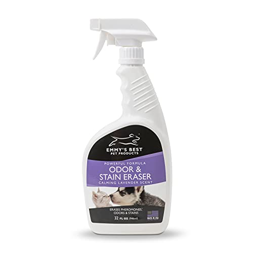 Emmy's Best Pet Products - Odor & Stain Eraser - Made in The USA - Pet Odor Absorber and Room Deodorizer for Home Use - Odor Remover and Urine Odor Eliminator - Exclusive Enzyme Carpet Cleaner