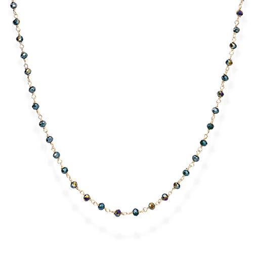Amen Romance CLRVE70 - Collar de mujer con cristales que cambian de color verde