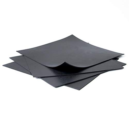 NEOPRENE RUBBER SHEETS black, 8x8-Inch by 1/16 (Pack of 4), Gaskets DIY Material, Ideal for Domestic uses where Protection is required, Isolation, Plumbing repairs, Useful for supports