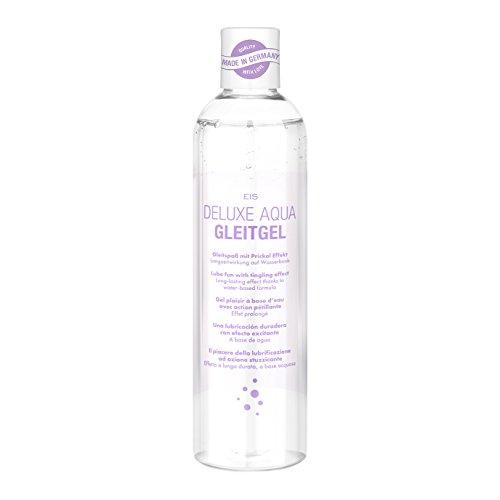 EIS, Deluxe Aqua Gleitgel, wasserbasierte Langzeitwirkung, Prickelndes Gleitgel, 300 ml