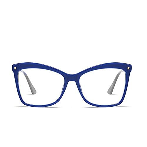 YTYASO Montura de Gafas, Montura de Gafas cuadradas, Lentes Transparentes para Mujer, Gafas de Ojo de Gato, monturas ópticas, Gafas Transparentes, Espejo Plano