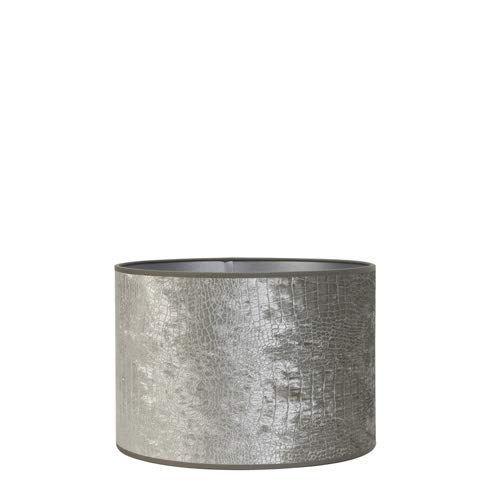 Light & Living lampenkap cilinder 50-50-38 cm CHELSEA velours zilver voor woonkamer eetkamer slaapkamer enz.