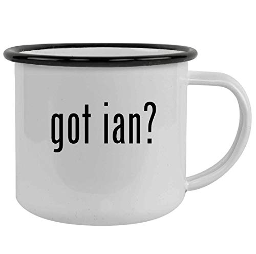 got ian? - Sturdy 12oz Stainless Steel Camping Mug, Black