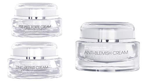Trio soins peau acnéique : Creme Anti Blemish, Crème cicatrisante Zinc, Pre peel forte