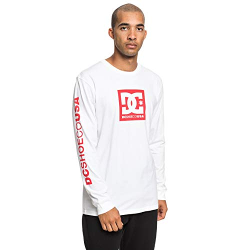 DC Shoes Square Star T-Shirt Homme, Neige Blanc, FR : M (Taille Fabricant : Medium)