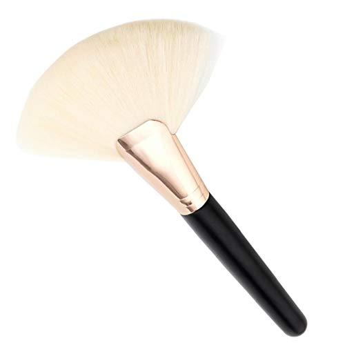 1pc maquillage pinceau cosmétique fibre de nylon Grand ventilateur en forme de brosse (blanc)