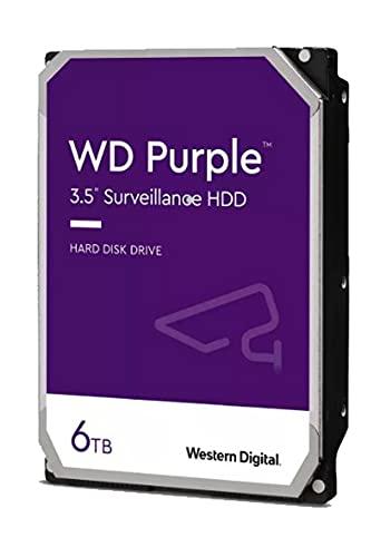 Western Digital 6TB WD Purple Surveillance Internal Hard Drive HDD - 5640 RPM, SATA 6 Gb s, 128 MB Cache, 3.5 - WD62PURZ