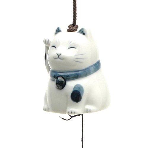 Kotobuki Japanischer Keramik Windspiel: gepflegten Katze # 485–240