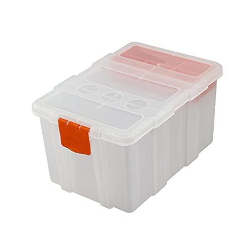 ERUYN Boîte de Rangement Transparente en Plastique pour pièces de matériel avec poignée de Verrouillage Compartiment Amovible adapté à l'entretien Manuel