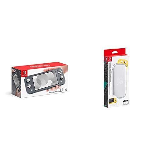 Nintendo Switch Lite - Gris & Pochette de Transport/Protecti