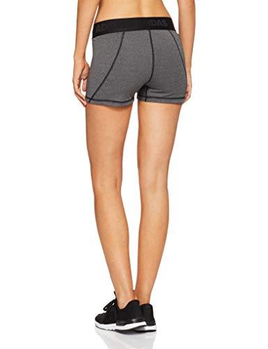 adidas Damen Alphaskin Sport ST3 Heathered Tights 1/4, Dark Grey Heather/Black, XS - 2