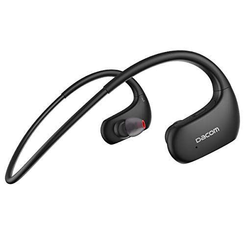 DACOM Bluetooth イヤホン ワイヤレス スポーツ ランニング 高音質 IPX7防水規格 両耳 耳掛け式 液体シリコ...