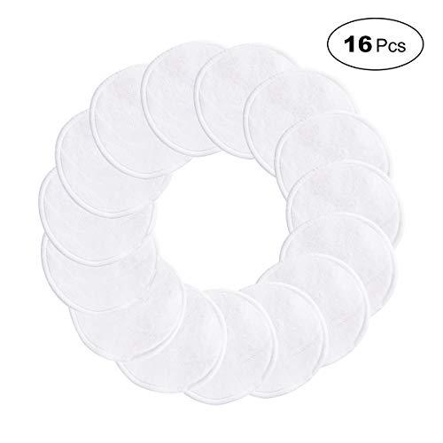 Tampons Démaquillants En Bambou HIDARLING 16 Pièces disques coton demaquillant lavable avec 1 Sac de lavage, Nettoyage Lavable Du Visage (Blanc)