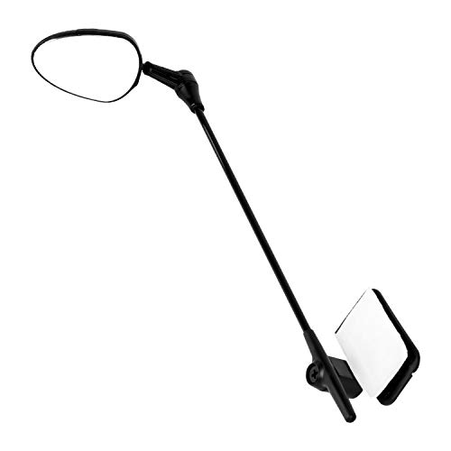 Turboom 360°Rotated Adjustable Bike Helmet Rear View Mirror Safe Riding for Adults & Kids