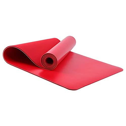 N\C Estera de Yoga de Caucho Natural PU Antideslizante Absorbente de Sudor 183CMX68CMX5MM, con Fuerte Resistencia al Desgarro y Agarre, es Una Estera Ideal para Practicantes de Yoga
