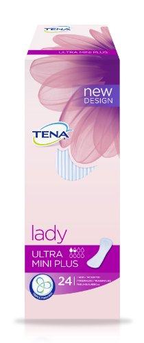 TENA Lady Ultra Mini Plus für sehr leichte Blasenschwäche, 24 Stück, 2er Pack (2 x 24 Stk)
