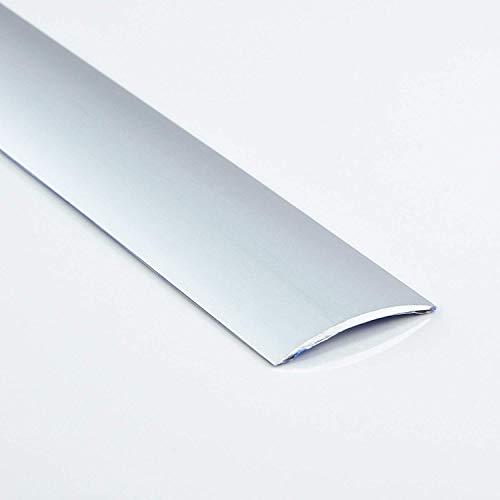 [DQ-PP] 1 x ALU PROFIL Übergangsprofil 40mm gebohrt inkl. Schrauben Farbe: silber, Länge: 90cm Dehnungsprofil Teppichschiene Schweller Laminat Parkett NEU