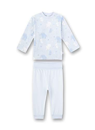 Sanetta Baby-Jungen Pyjama Lang Zweiteiliger Schlafanzug, Blau (blau 50308), 80 (Herstellergröße:080)