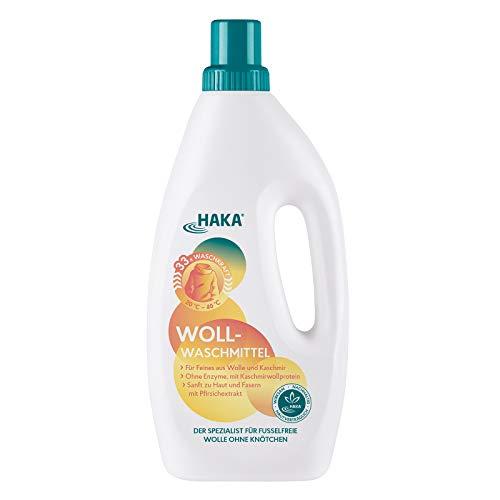 HAKA Wollwaschmittel I 1 Liter I Flüssigwaschmittel für Wolle und Feines I 33 Wäschen I Umweltfreundliches Woll-Waschmittel mit Weich-Pfleger