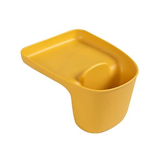 CNYG Cesta de almacenamiento para fregadero de cocina con ventosa para suministros de cocina, paño para lavavajillas, palillos, artículos de Sundries amarillo 16,2 x 13 x 9,7 cm