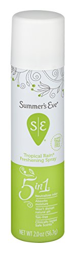 Summer's Eve Freshening Spray | Tropical Rain | 2 oz Size | Pack of 6 | pH Balanced, Dermatologist & Gynecologist Tested