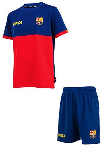 Fc Barcelone Conjunto Camiseta + Pantalones Cortos Barca - Colección Oficial Talla niño 14 años