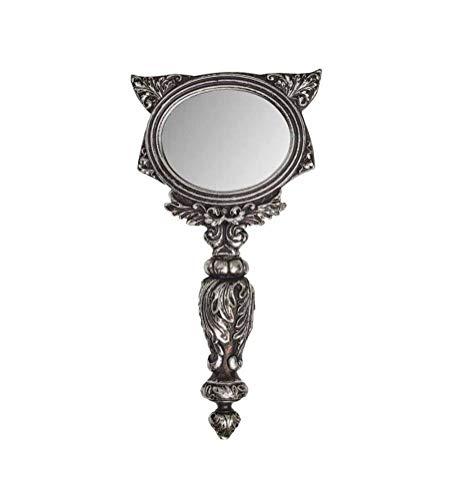 Alchemy Gothic Sacred Cat Specchio a Mano - Argento