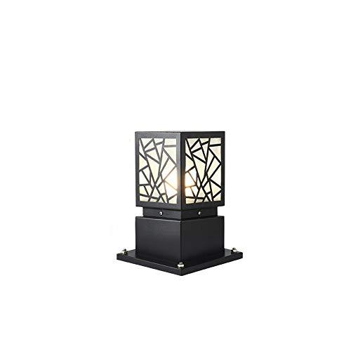 FENGLIAN Traditional E27 Square Post Bollard Super Bright Light Lamp Brick Columns European Retro Die-cast Aluminum Table Lamp Patio Terrace Villa Courtyard Antique Floor Light (Size : 21 * 60cm)