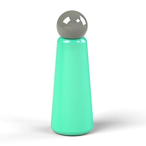 Lund London Bouteille quille | 500 ml | Bouteille d'eau réutilisable | Double paroi | Garde le contenu froid pendant 24 heures et chaud pendant 12 heures | Sans BPA | Acier inoxydable, 7089, turquoise