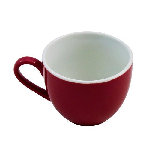 Ritzenhoff & Breker Doppio Espresso Obere, Obertasse, Ober Tasse, Geschirr, Porzellan, Rot, 80 ml, 516128