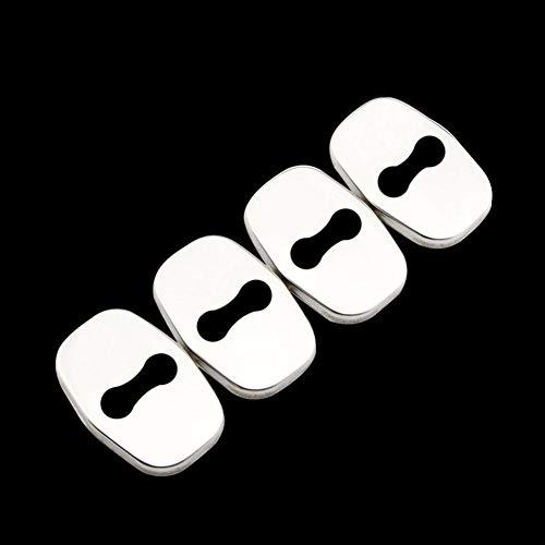 ZHHRHC Cubierta de protección de Cerradura de Puerta de Coche, CubiertaDecorativa con Hebilla de Bloqueo, para Citroen C4 Picasso C4L C5 para DS 3 4 5 DS4 DS3 DS5