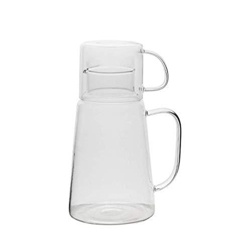 GYCS Jarra de Agua Vaso Botella de Agua fría Juego de Tazas de Agua Hervidor Blanco frío para el hogar Jarra de Jugo de limón para Vino Tinto Jugo Leche Agua Helada Café Caliente para Jugo frío c