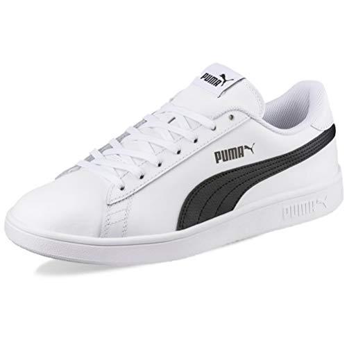 Puma Smash V2 L, Scarpe da Ginnastica Unisex-Adulto, Bianco White Black, 44 EU