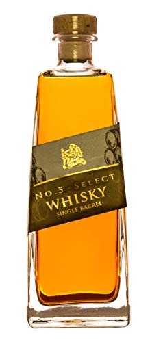 No 5 Select Whisky (1 x 0.5 l) Single Barrel 40% Vol. deutscher Whisky aus dem Schwarzwald