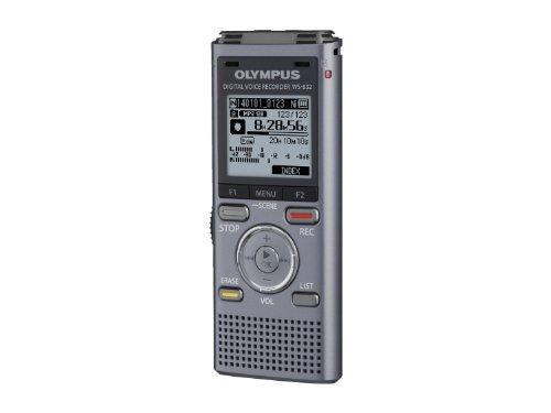 Olympus WS-832 Diktiergerät, 4 GB Speicher, Micro SD-Kartenslot, USB, Musik Player, inklusive Ni-MH Akku, Stereo Kopfhörer und Stereoaufnahme