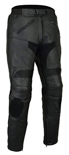 Pantalones de Cuero Bikers Gear LT1005, para Deportes, con Control Deslizante, extraíbles, Talla EU 42, Mediano/Corto