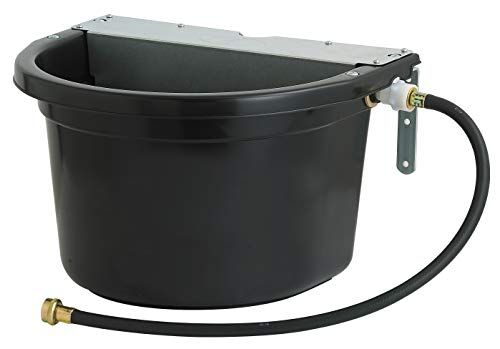 Little Giant Automatic Animal Waterer (Black) Float Controlled Automatic Waterer for Livestock (4 Gal) (Item No. FW16MTLBLACK)