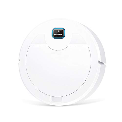 IOAOAI Rechargeable Robot Vacuum, 600PA Robotic Vacuum Smart Cleaner with Self-Charging, Floor Cleaning Vacuum Best for Pet Hairs Home Cleaning Tool White