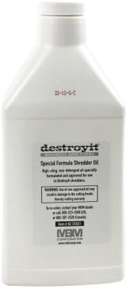 MBM DestroyIt Shredder Oil - 1 Quart Bottle (6pk)